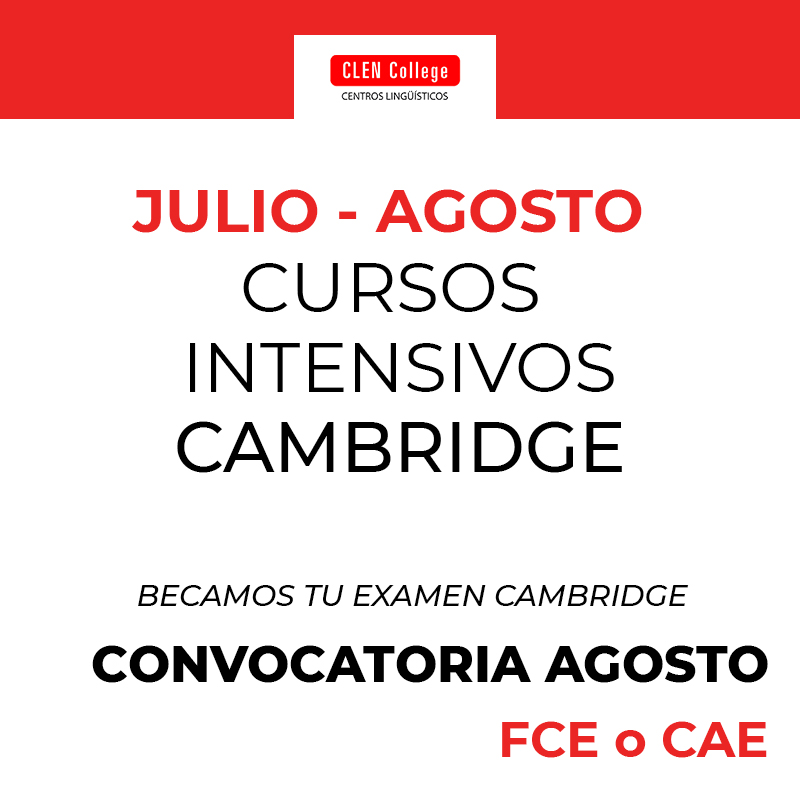 Cursos intensivos cambridge para la convocatoria de agosto 2019